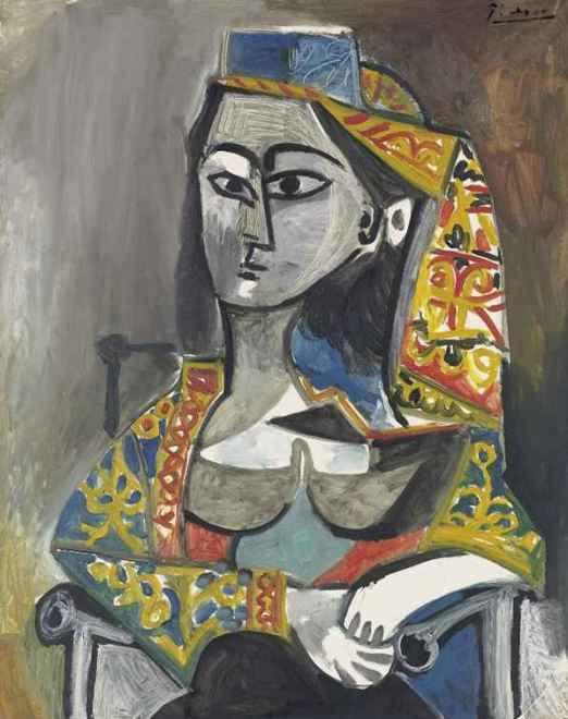 Femme au costume turc dans un fauteuil, 1955