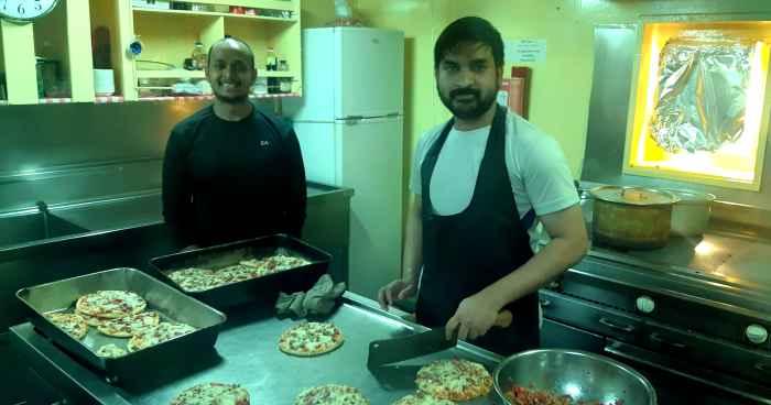 Chief Cook Muhammad Anis and Messman Vipul Sudhakar Shirsath