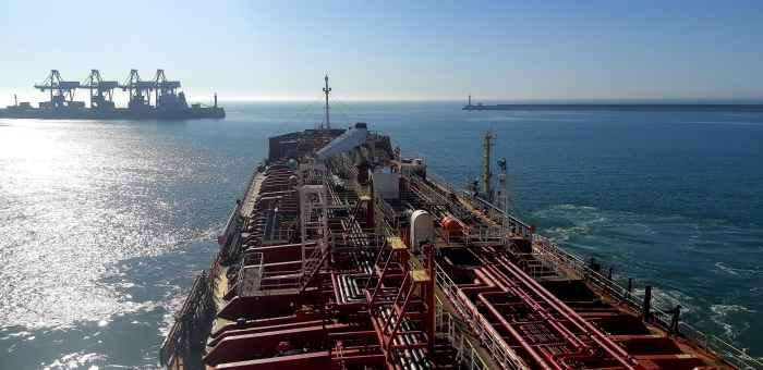 "Chemical tanker ""PK Marit"" leaving port Dalian"