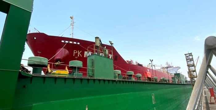 "m/t ""PK Marit"" in Dubai floating dock"