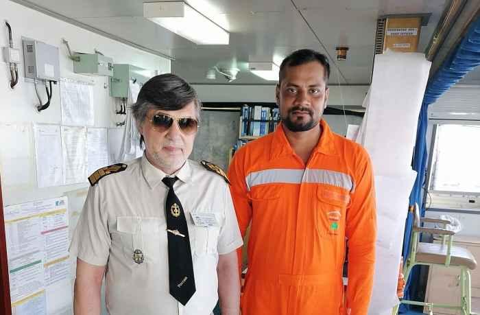 Captain Vlad Nikolskiy and ABS Prashant Kumar