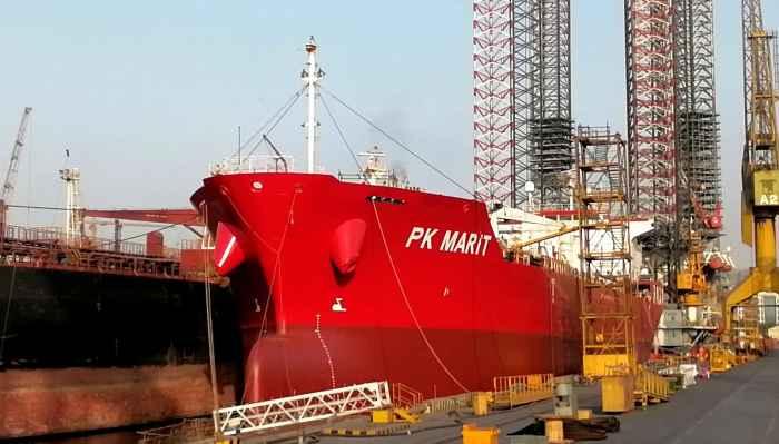 PK MARIT at Birth No 5 Dubai Drydock Shipyard