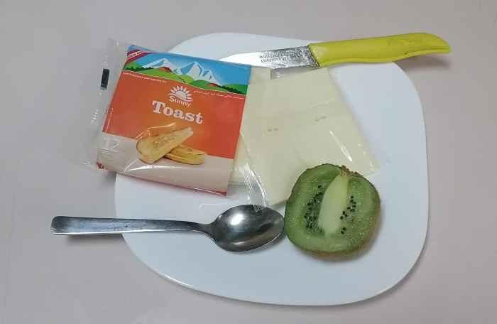 Киви с сыром