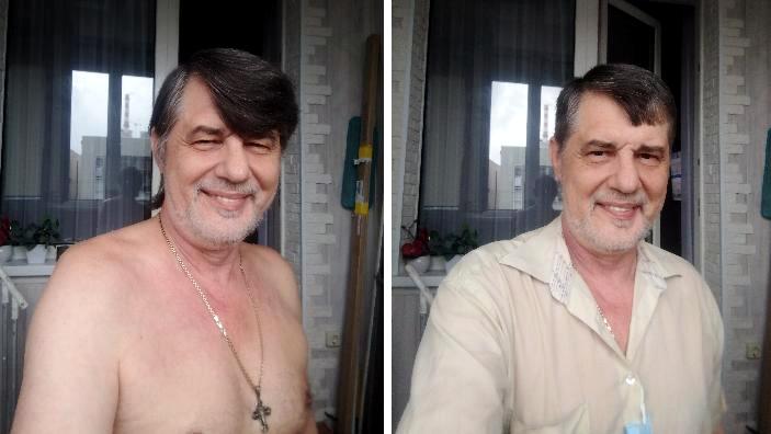 Капитан Никольский до и после парикмахерской