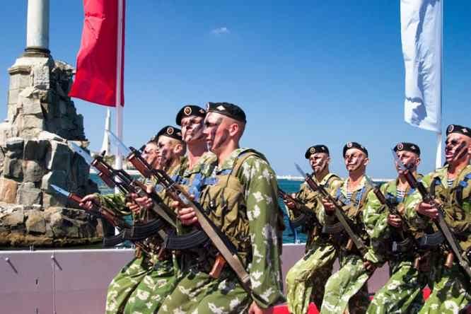 Морская пехота в Севастополе