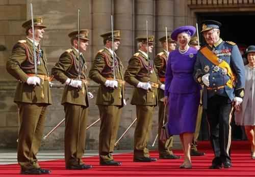 Дания. Королева Маргрете II и принц-консорт Хенрик