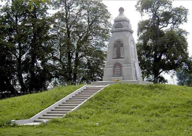 Памятник воинам русской армии - защитникам острова Луцавсала