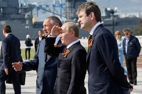 мэр Новороссийска Владимир Синяговский,  губернатор Александр Ткачёв и просто Путин