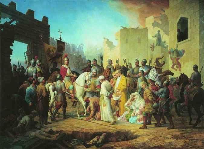 П.М. Шамшин - Вступление Иоанна IV в Казань