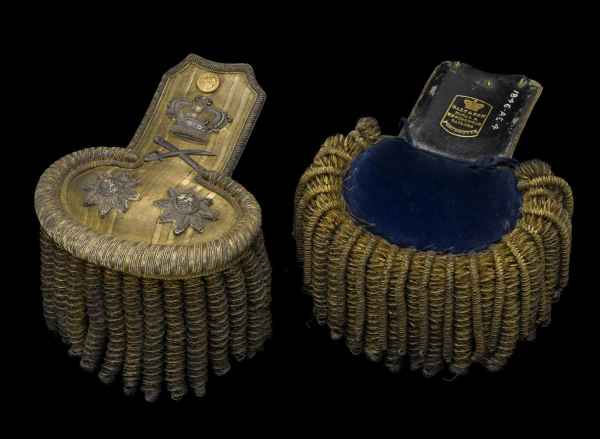 Эполеты образца 1846  вице-адмирала Чарльза Непира