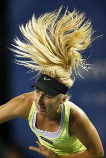 Россиянка Дарья Гаврилова на теннисном турнире в Токио