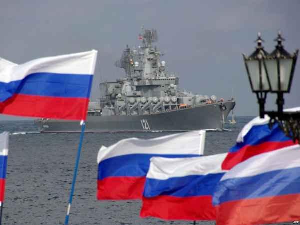Ракетный крейсер Москва в Севастополе