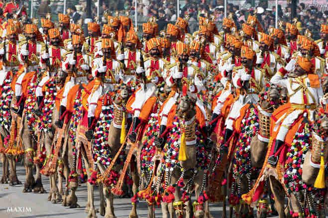 Индийские пограничники на параде