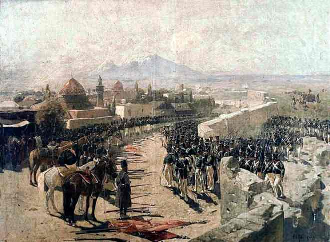 Взятие русскими войсками Эривани 1827. Ф. А. Рубо