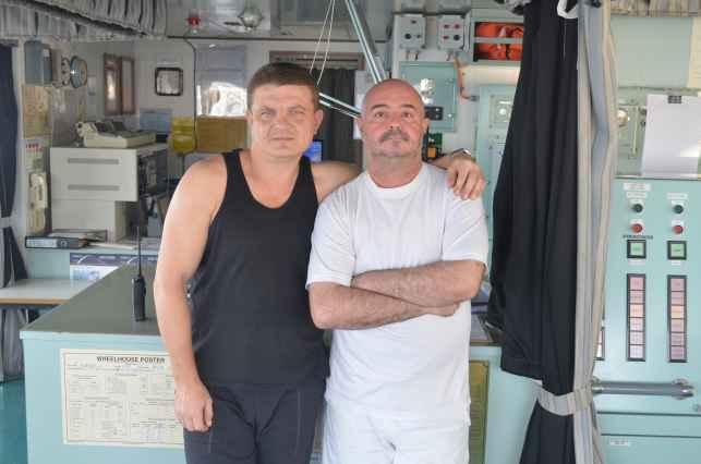 Старший помощник Олег и донкерман Олексий