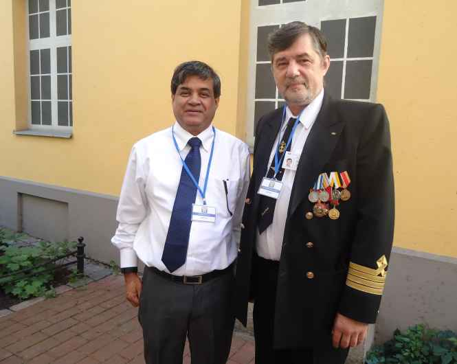 Captain Nikolskiy and Company General Manager Capt Ahmed Belal.