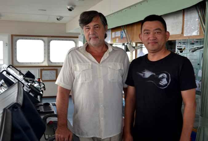 Капитан Никольский и представитель компании в Китае Capt Li En Lian