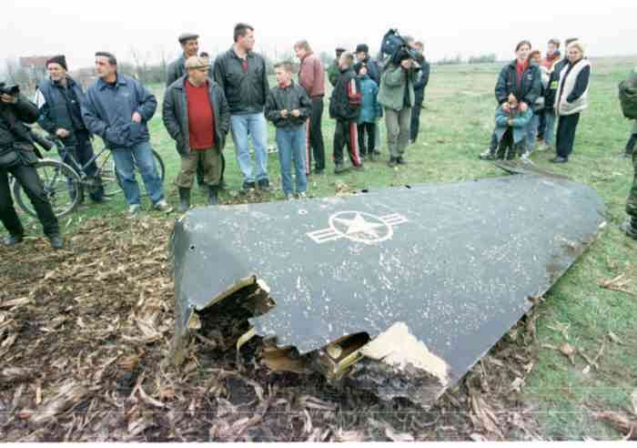 Сбитый в Сербии F-117A