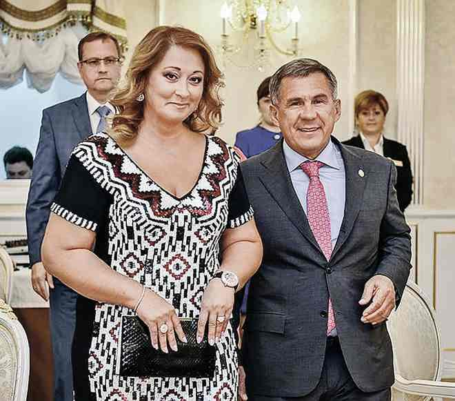 Рустам Минниханов с супругой