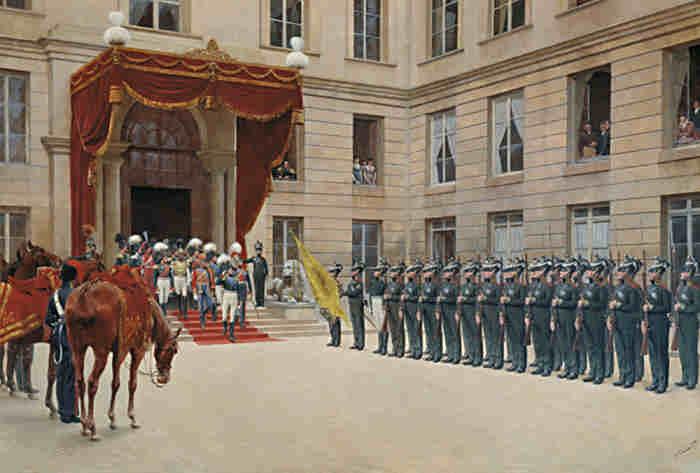 Морской гвардейский экипаж в Париже