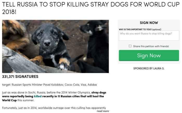 Прекратите убивать собак