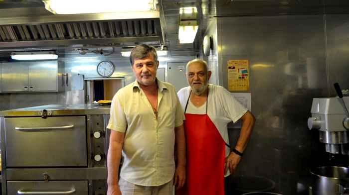 Capt Vlad Nikolskiy and Ch Cook Panagiotis Vangelatos