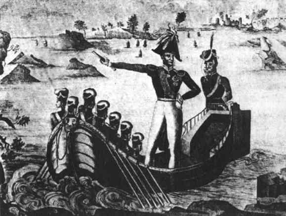 Русские канонерки атакуют турецкий флот 1828