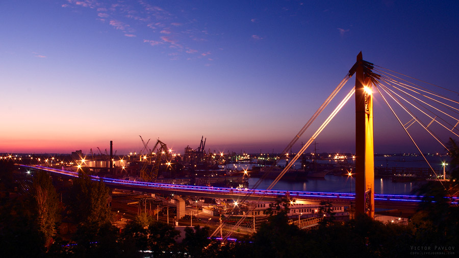 Одесса, колоннада, порт