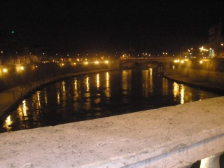 The Tiber River at night