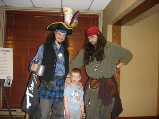 The Chaotic Kid meets the pirates .. take one
