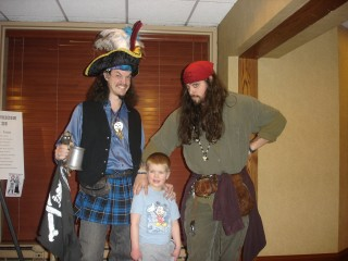 The chaotic kid meets the pirates ... take two