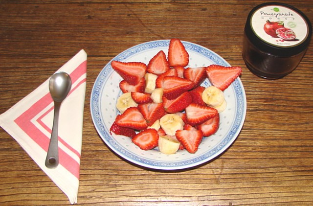 Strawberries and banana