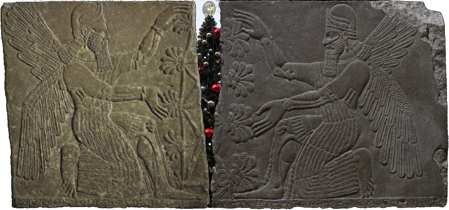Ассирийские боги и Древо жизни