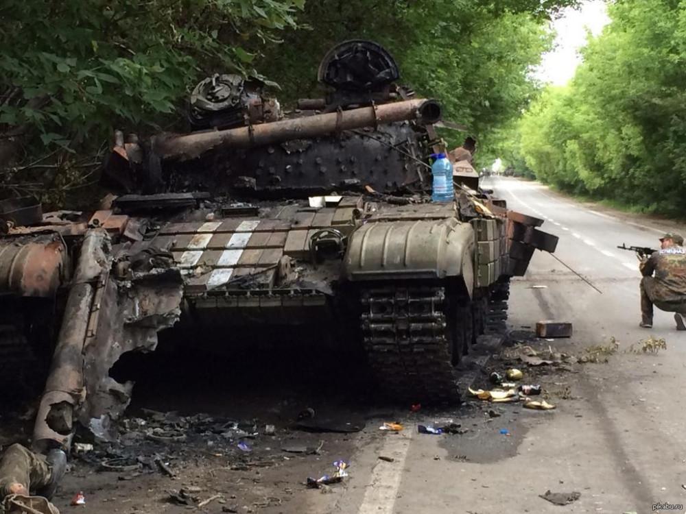 Потерянные танки ВСУ. Пески 2014