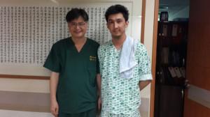 Максат и главный врач.