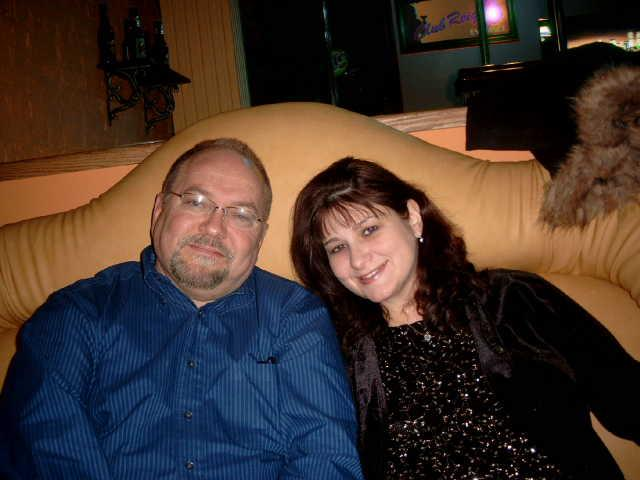 Hubs and I about 15 years ago--younger and healthier! (I could actually wear eye makeup back then!!)