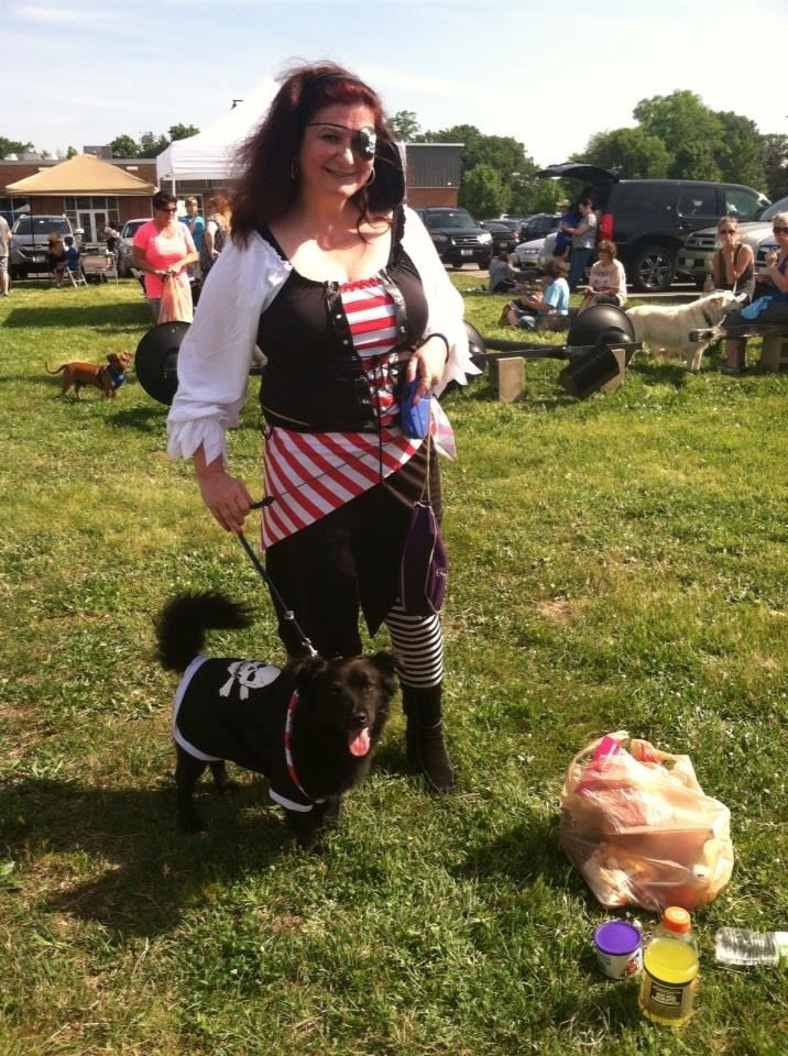 Cutest puppy pirate ever--Reno! And Pirate Cherry.