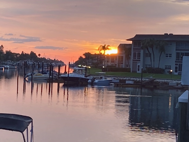 As the sun set on our Florida adventure, we watched the sunset in New Port Richey last night. Gorgeous!