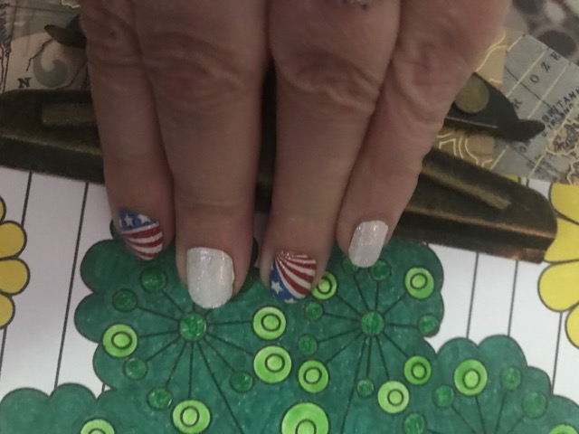 And, my holiday manicure.