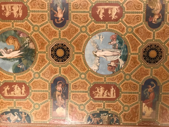 Ceiling in the lobby of The Palmer House.