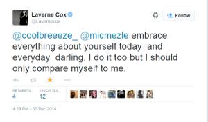 Laverne Cox (tweet)