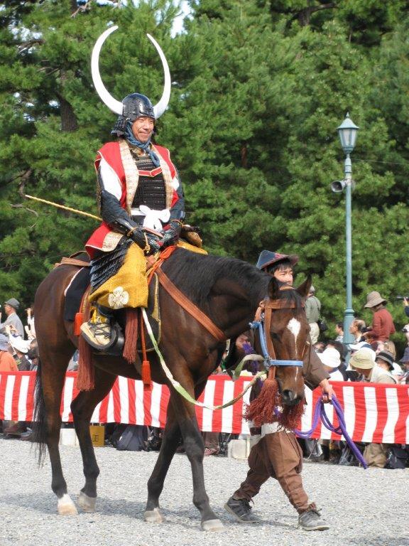 Parade rider on horseback, Jidai Matsuri, Kyoto 2009