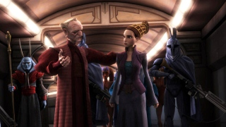 Palpatine and Senator Amidala - The Clone Wars Senate Murders ending