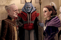 Palpatine and Padme Amidala The Clone Wars Crisis on Naboo