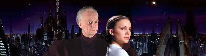 Palpatine and Padmé Amidala - night on Coruscant