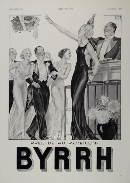 1933FrenchAdByrrhAperitifPartyGeorg
