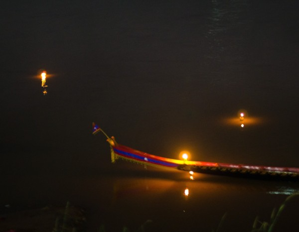 village boat and krathong