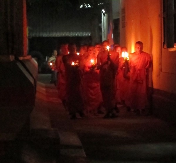 monks leading the procession