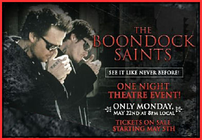 """The Boondock Saints"" - Special Showing on May 22"