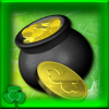 16 - pot of gold coins